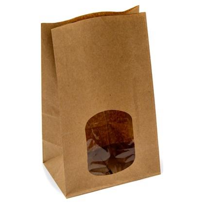 Kraft Window Sandwich Bag