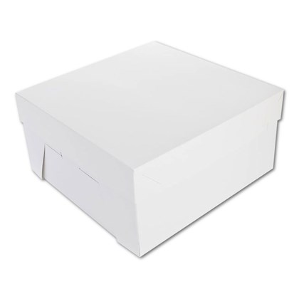 White Cake Boxes 10x10x4
