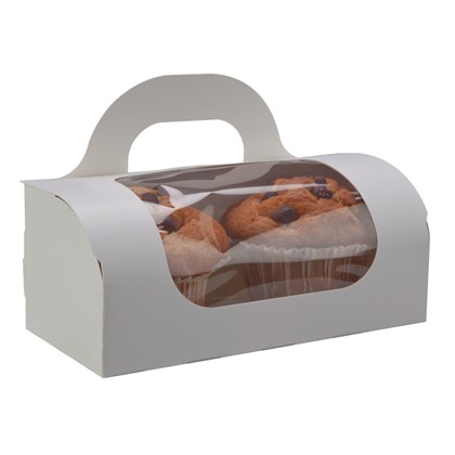 White Muffin Carry Box
