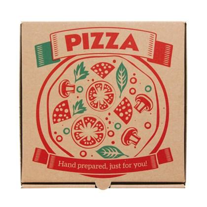 "14"" Printed Brown Pizza Box"