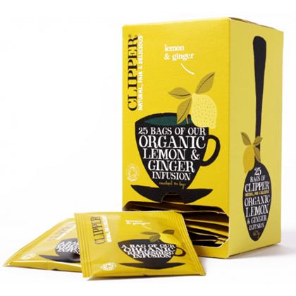 Clipper Organic Lemon & Ginger Infusion Qty 6x25