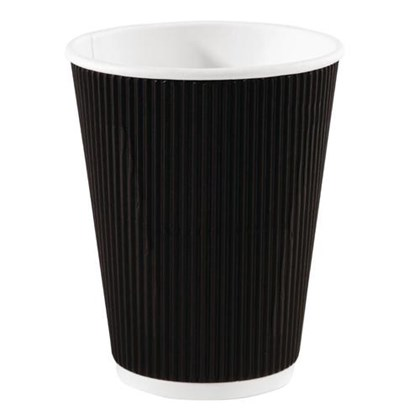 16oz Black Triple Walled Ripple Cup Qty 500