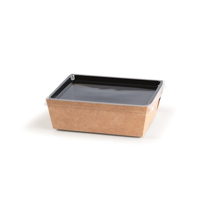 Small Coalesce Kraft Tray with Hinged Lid