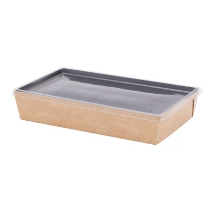 Large Coalesce Kraft Tray with Hinged Lid