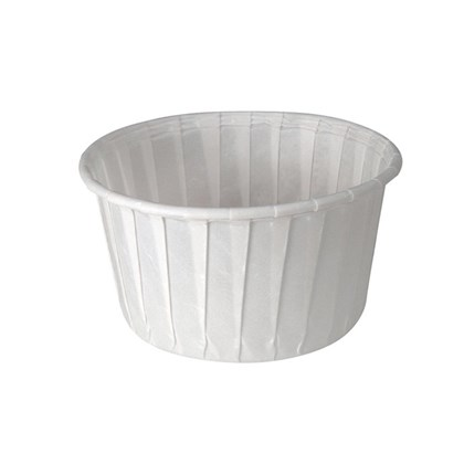 5.5oz White Paper Souffle Pot