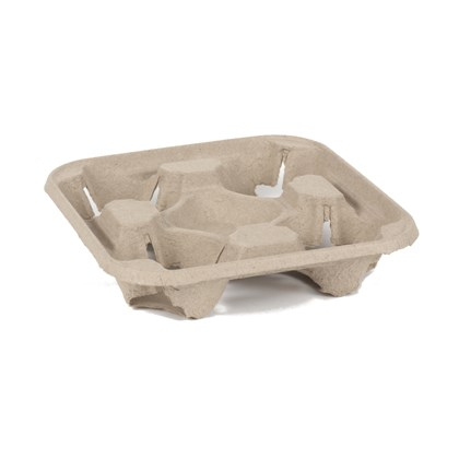 Moulded Pulp 4 Cup Carrier