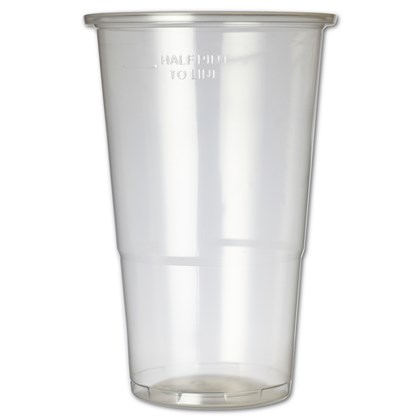 Plastic Glass Half Pint To Line 340ml
