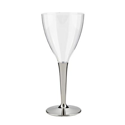 Mozaik Wine Glass Silver Stem 130ml