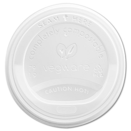 8oz CPLA Hot Cup Lid White