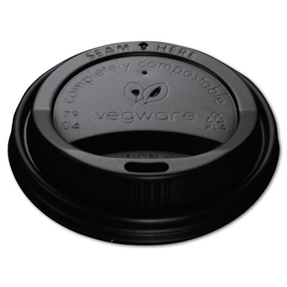 8oz CPLA Hot Cup Lid Black