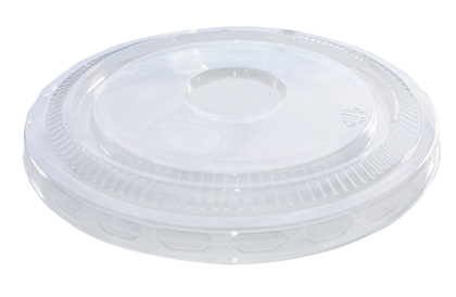 9-14oz rPET Flat Lid No Hole pack of 1,000