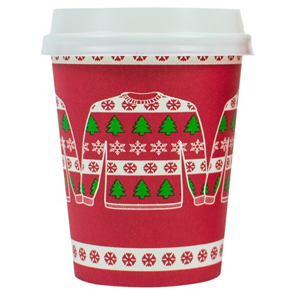8oz Single Wall Christmas Jumper Cup
