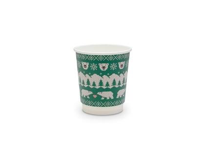 8oz Double Wall Green Polar Cup