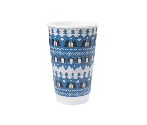 16oz Double  Wall Penguin Christmas Cup