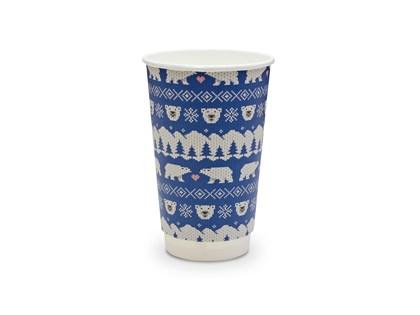 16oz Double Wall Blue Polar Christmas Cup