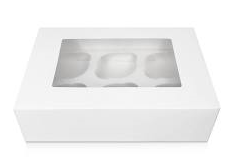 White 6 Cupcake Box with Inserts Qty125