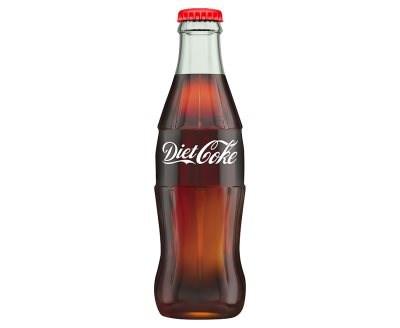 Diet Coca Cola Bottles Glass 24x330ml