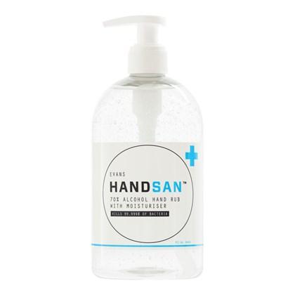 Handsan 6x500ml 70% Alcohol Hand Rub Sanitiser with Moisturiser
