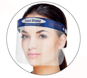 Protective Face Shield - Elasticated strap Qty1