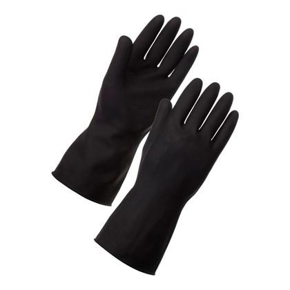 Heavy Duty Black Gloves Size Medium Qty 12