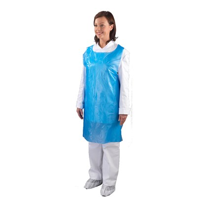 Blue Disposable Aprons Qty 100