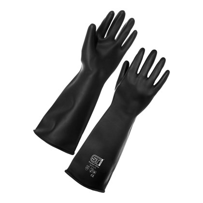 Black Gauntlet Gloves Large