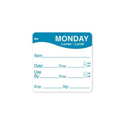 2 x 2 Blue Monday Prep Label