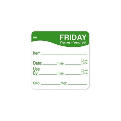 2 x 2 Green Friday Prep Label