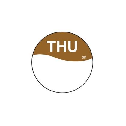 Round Brown Thursday Label