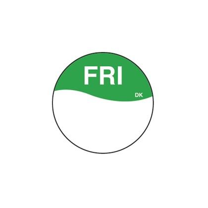 Round Green Friday Label