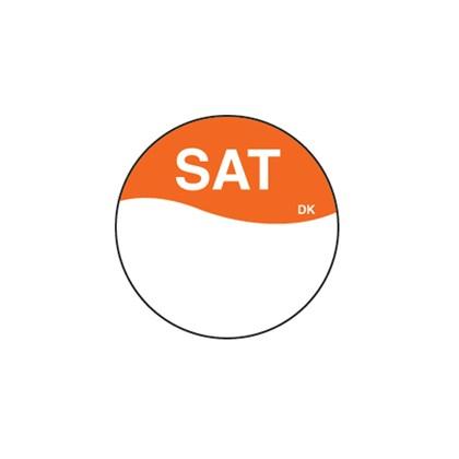 Round Orange Saturday Label