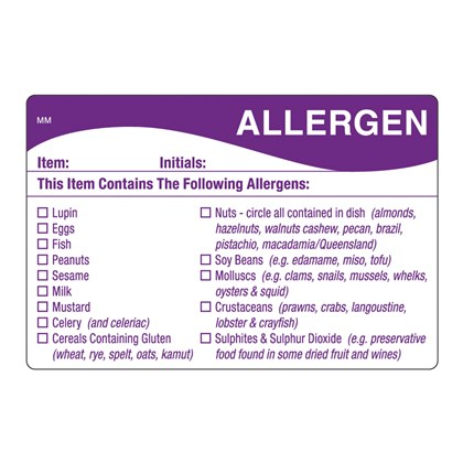 Allergen General Label