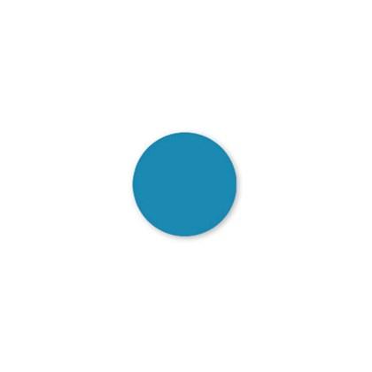 Solid Blue Dot Label