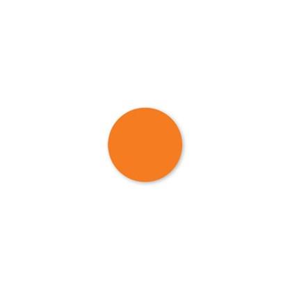 Solid Orange Dot Label