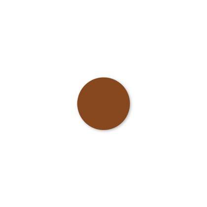 Solid Brown Dot Label