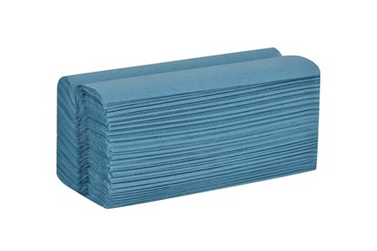 1ply Blue C-Fold Hand Towels*
