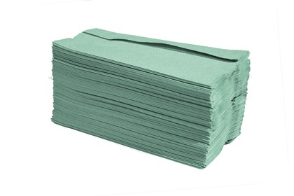 1ply Green C-Fold Hand Towels*