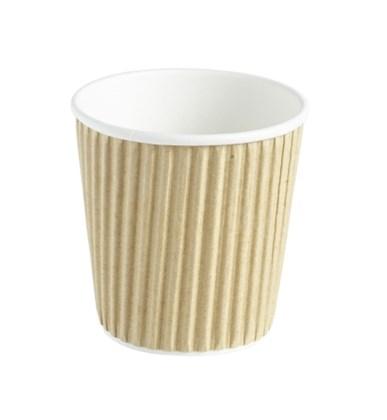 4oz Espresso Double Wall Kraft Barrier Ripple Cup