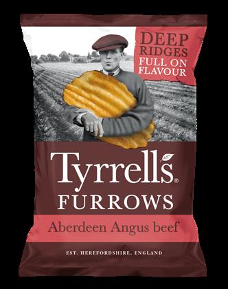 Tyrells Furrows Aberdeen Angus Beef Crisps