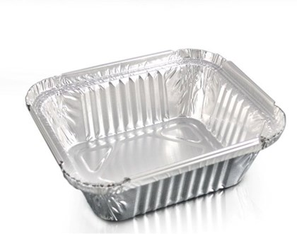 No 1 Foil Container (122x96x34mm) Qty 1000