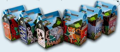 Children's Meal Boxes - Endangered Animal Print