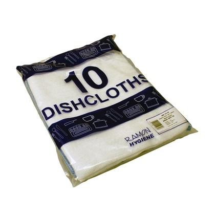 Standard Dishcloths White 30cm x 35cm Qty 10