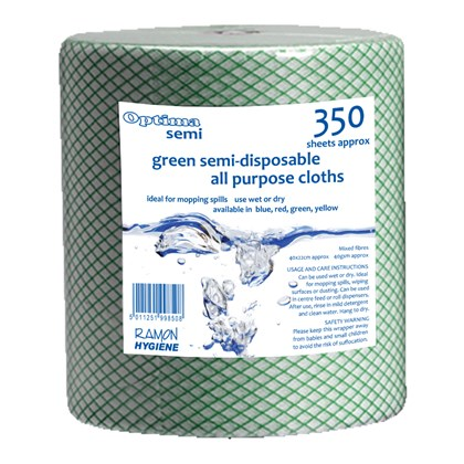 Optima J-Cloth Roll Green