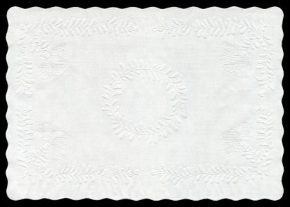 """Embossed Paper Tray Doilie 13.75 Qty 1000"""""""