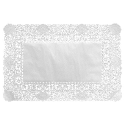 Doyley Rectangle 30 x 40cm White