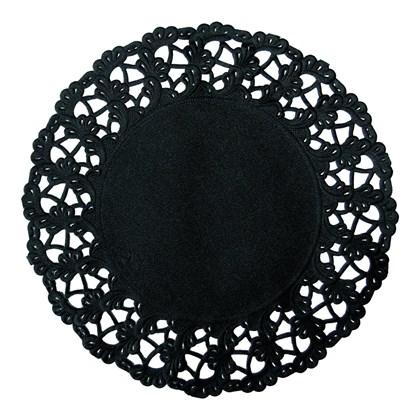 Black Round Doyleys 12cm