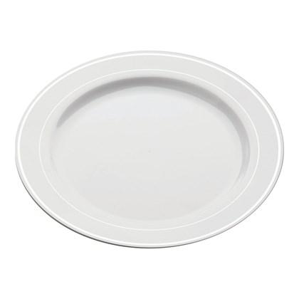 Mozaik White Silver Rim Plate 23cm