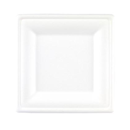 "10.5"" Square Bagasse Plate"