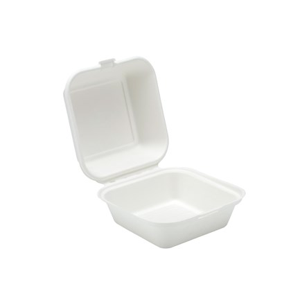 "5"" Bagasse Hinged Container"