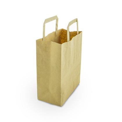 Small Recycled Kraft Paper (VEG) Carrier Qty500